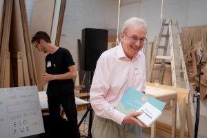 Charles scanlan receiving award summer party